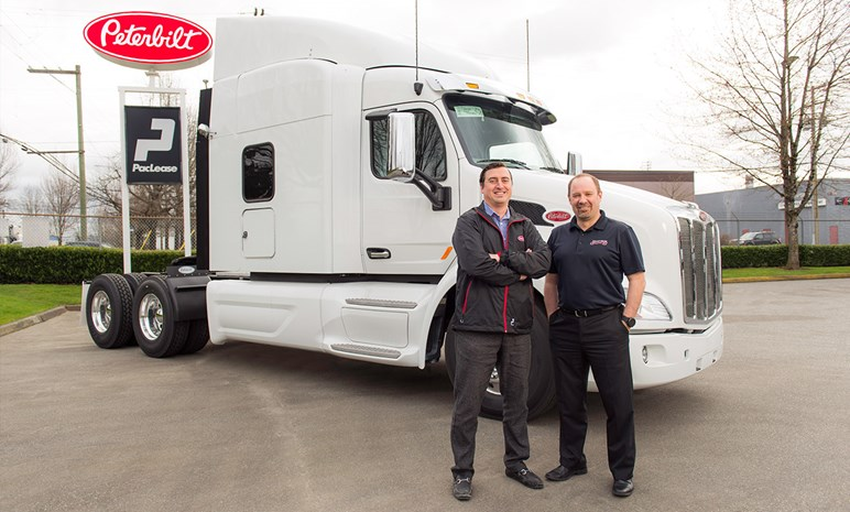 Erich Schmidt, Peterbilt Pacific Leasing. Mike Dandenault, Bulkley Valley Wholesale